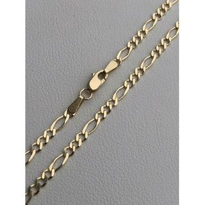 Harlembling Men 14k Gold Figaro Link 3mm Chain